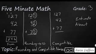 3rd Grade Math Rounding and Compatible Numbers