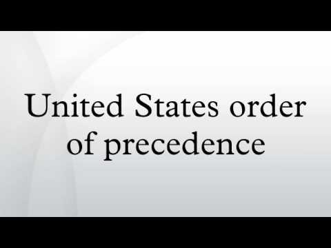 United States order of precedence