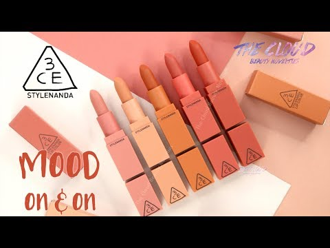 3ce-mood-on-and-on-matte-lip-color-|-full-5-swatches-&-review-mood-recipe-2-limited