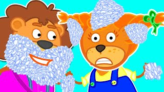 Lion Family | Good Manners for Kids. Daddy is my Hero | Cartoon for Kids