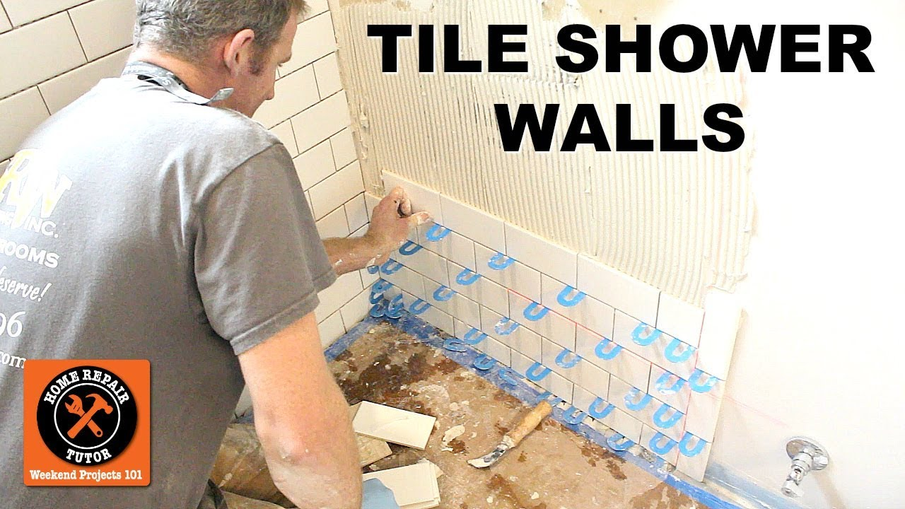 How To Tile A Shower Wall Subway Tips On Plumbing By Home Repair Tutor