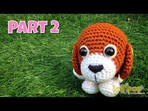 ถักตุ๊กตาโครเชต์น้องหมาน้ำตาลปึก Part 2-3/Brown Sugar Puppy Amigurumi Part 1/ English Subtitles