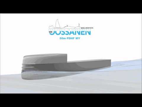 CFD simulation of a 50m FDHF motor yacht in waves