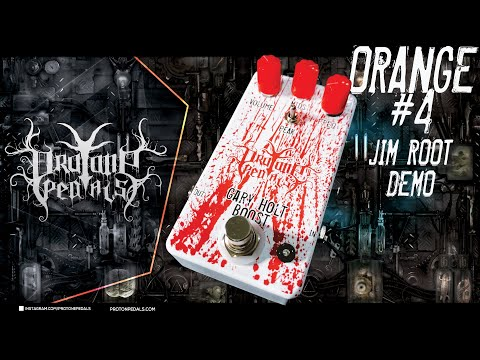 Gary Holt Signature Pedal by Pro Tone Pedals into Orange #4 Terror Head