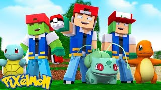 GETTING OUR VERY FIRST POKEMON TO BATTLE WITH - Minecraft POKEMON ADVENTURE w/ Little Lizard