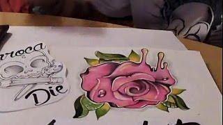 ►Como dibujar una rosa NewSchool / how to draw a rose◄