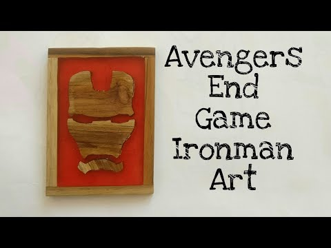 How to make Avengers End Game Iron man art from epoxy resin and wood | avengers | iron man