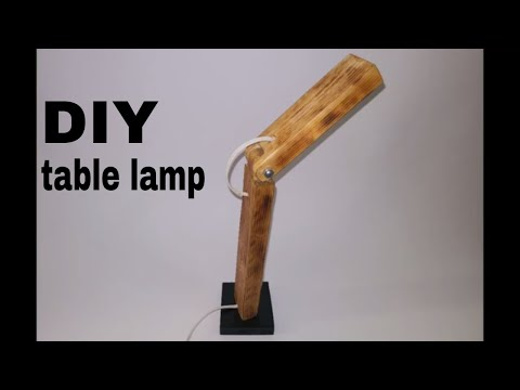 DIY Table Lamp | How To Make Table Lamp At Home With Wood| DIY easy craft