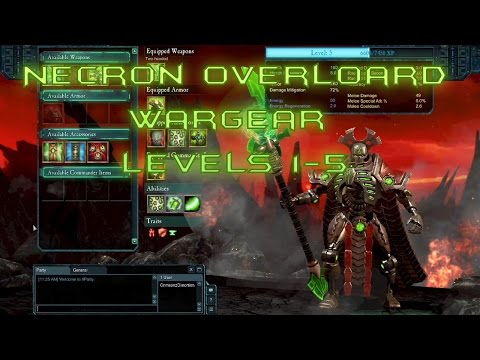 Dawn of War 2: Retribution - Necron Overlord Wargear (Level 1-5)  