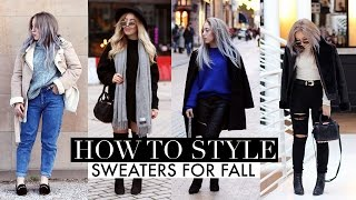 HOW TO STYLE | Sweaters For Fall Lookbook 2016
