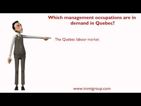 Which management occupations are in demand in Quebec?