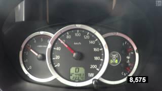 Mistubishi L200 (500 kg load) Acceleration 0-100 km/h (Measured by Racelogic)