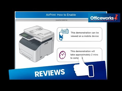 How to Enable AirPrint DocuPrint CM225