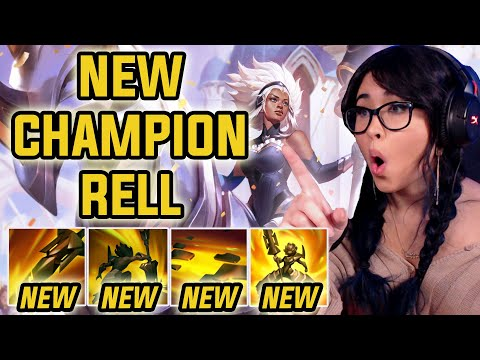 RELL'S PEEL IS INSANE!! NEW TANK Support Champion! (Full PBE Gameplay)