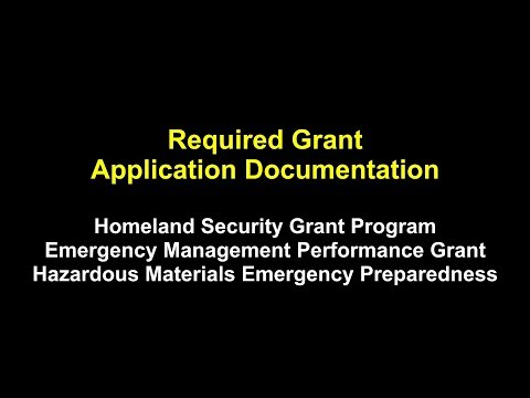 Non-Disaster Grants: Required Grant Application Documentation