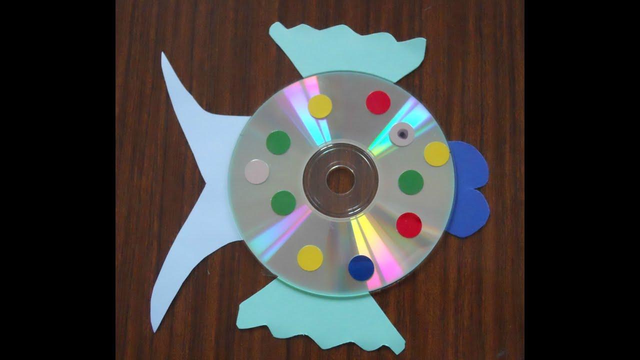 C mo hacer un pez con un cd youtube - Como se hace manualidades ...