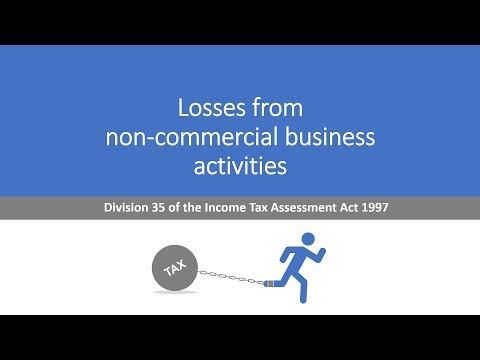 Losses from non-commercial business ITAA97