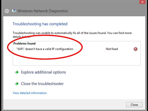 Fix WiFi doesn't have a valid IP configuration Error in windows 7 ...