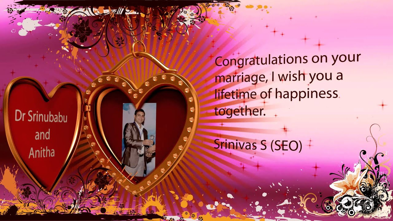 Marriage greetings youtube marriage greetings m4hsunfo