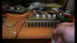 видео Транзисторный усилитель мощности 100ватт