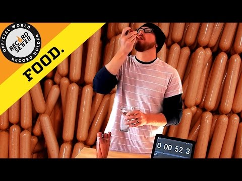 Most Hot Dogs Swallowed Whole In One Minute
