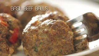 Basil Beef Balls