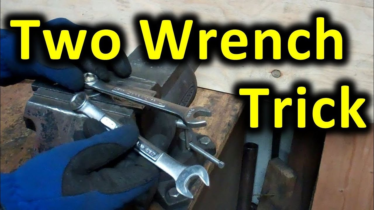 09c3457737d3a4 Two Wrench Leverage Trick. Using 2 wrenches to increase leverage on a tight  nut or bolt.