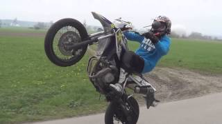 Yamaha WR 125 X Wheelie Tutorial GERMAN [GoPro][HD]