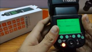 Godox TT685 E-TTL + HHS Unboxing and Overview