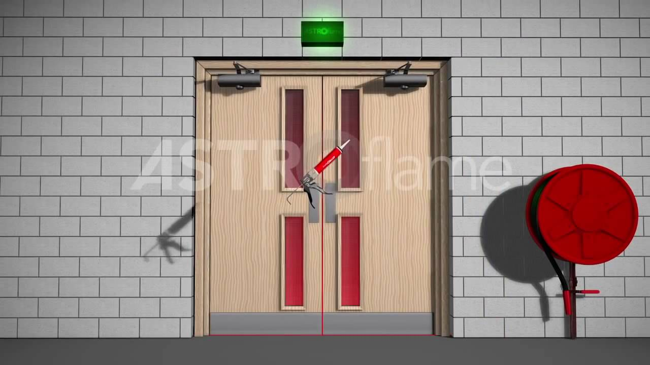 using intumescent mastic to seal a fire door frame youtube. Black Bedroom Furniture Sets. Home Design Ideas