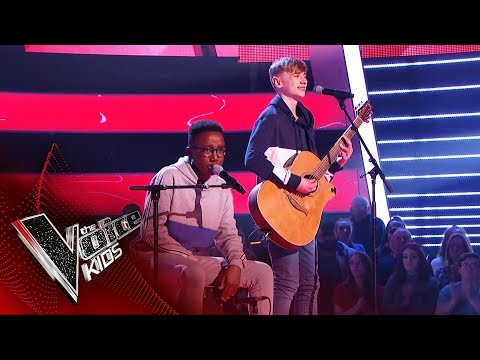 David and Ammani Perform 'Let's Get It Started' | Blind Auditions | The Voice Kids UK 2019