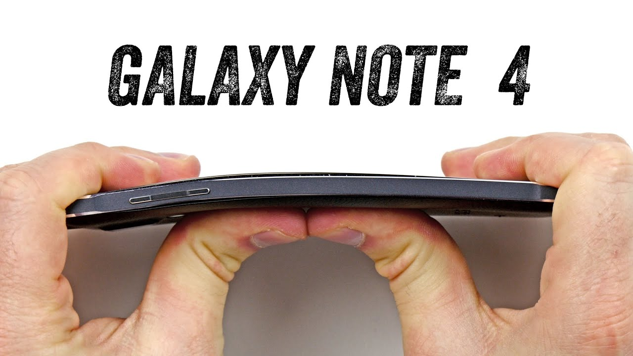 Samsung Note 4 Subjected to Bending Test