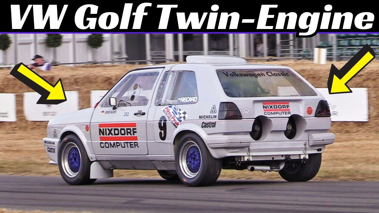 "1987 VW Golf GTI MKII Twin-Engine (Bi-Motor) ""Pikes Peak"", One-Off Hillclimb Monster at Goodwood FOS"