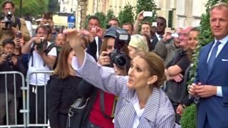 Céline Dion et les jumeaux quittent l'hôtel le 10.08.17 Paris ( 2/3 )