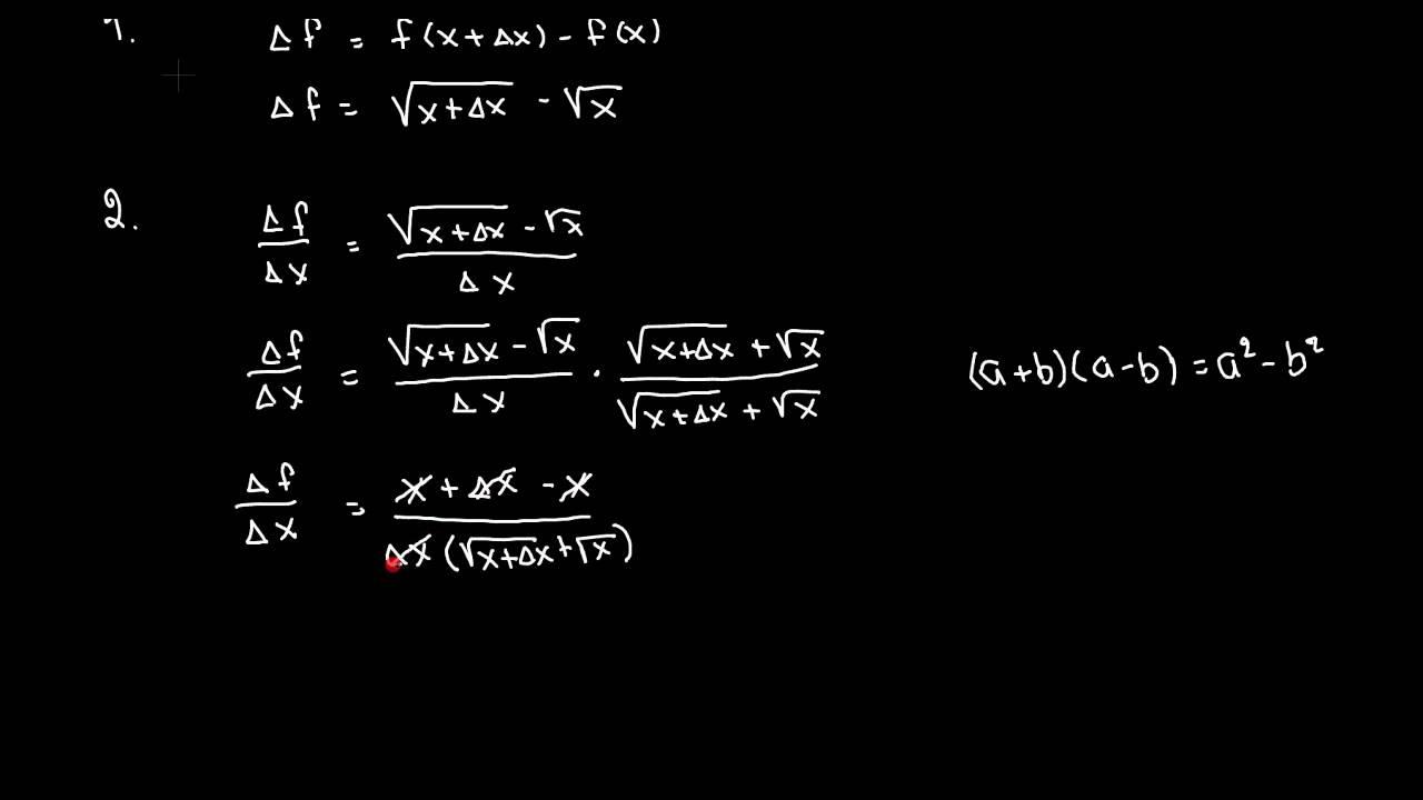 Differentiation af kvadratrod x