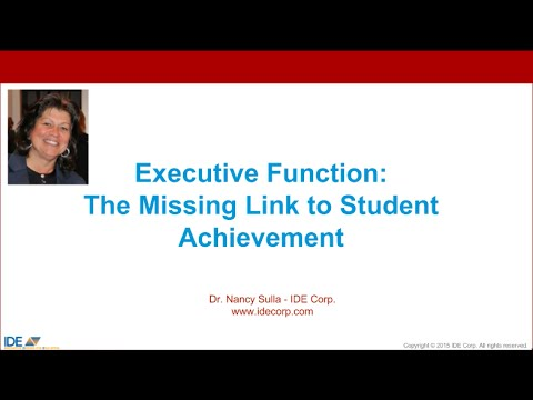 Executive Function: The Missing Link to Student Achievement