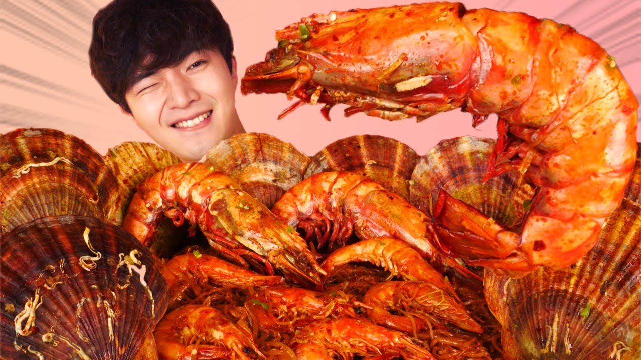 ENG SUB)Massive Spicy Mara Seafood(Tiger Shrimp,Scallops)Eat Mukbang🦐Korean ASMR Hoony Eatingsound