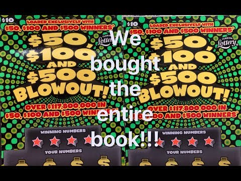 We Bought An Entire Book Of $50, $100, $500 Blowouts!!! (Part One)