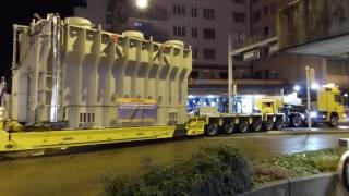 Ausnahmetransport Teil 1 - Manövriert auf Kreuzung in Olten