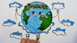 How to draw earth day competition drawing for kids