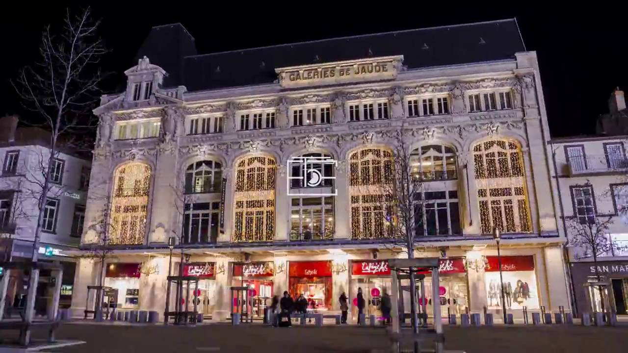 Galeries Lafayette A Noel Jaude Clermont Ferrand Hyperlapse Youtube