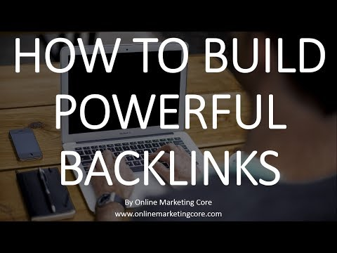 How to build powerful back links