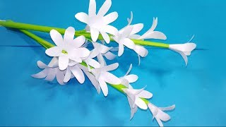 DIY paper flowers tuberose! Awesome flowers with color paper! Jarine's Crafty Creation