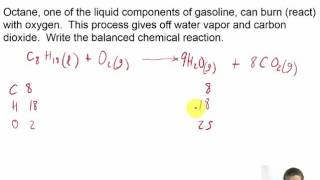 Chapter 08 - 16 - PROBLEM - Combustion of Octane