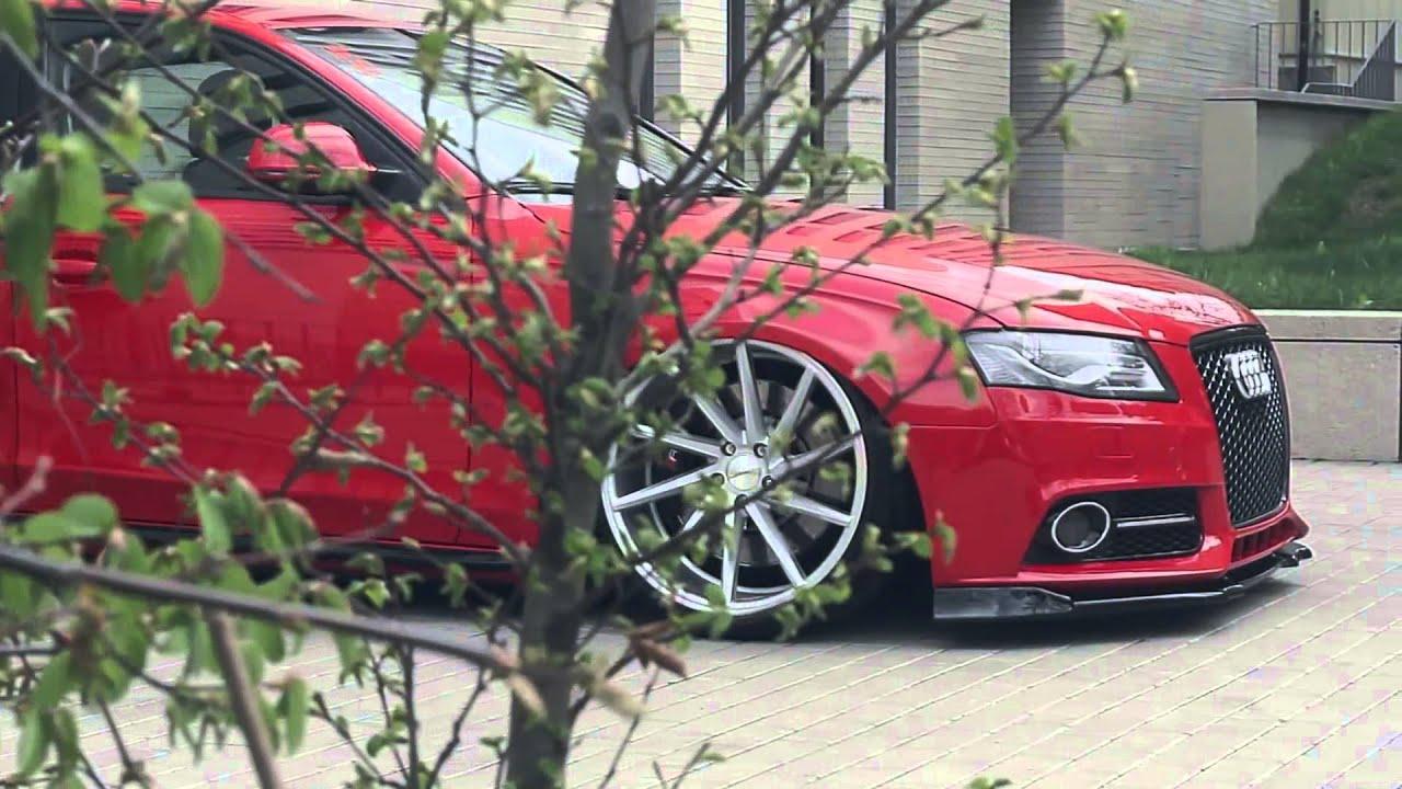 Audi A4 B8 Bagged Vossen 20 Cvt Concave Wheels Poland Video