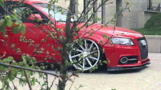 "Audi A4 B8 Bagged | Vossen 20"" CVT Concave Wheels 