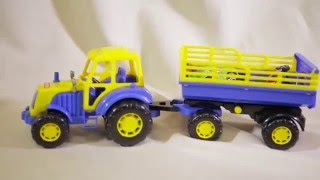 Развивающий мультик для малышей. Учим цвета вместе с ёжиком и трактором.