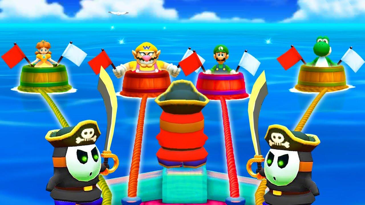 【マリオパーティ100ミニゲームコレクション】デイジーVsワリオVsルイージVsヨッシー(COM最強 たつじん)