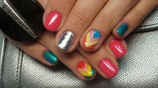 Дизайн ногтей гель-лак shellac - Роспись ногтей - Дизайн ногтей фольгой (видео уроки дизайна ногтей)