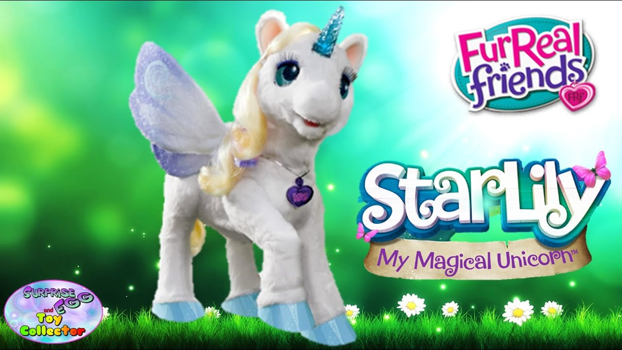 starlily my magical unicorn furreal friends hasbro interactive